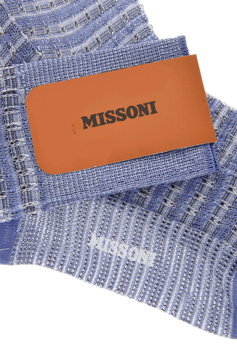MISSONI WOVEN Light Blue Over The Knees