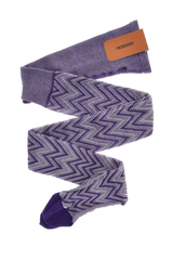 MISSONI ZIG ZAG Purple Woven Tights
