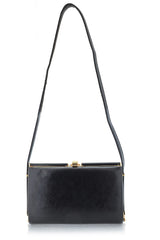 MELANY Black Leather Bag