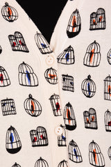 LONDON BIRDCAGES Long Printed Cardigan