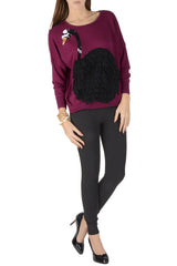 LONDON BLACK SWAN Prune Sweater