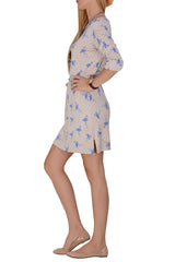 LONDON BLUE FLAMINGO Beige Dress