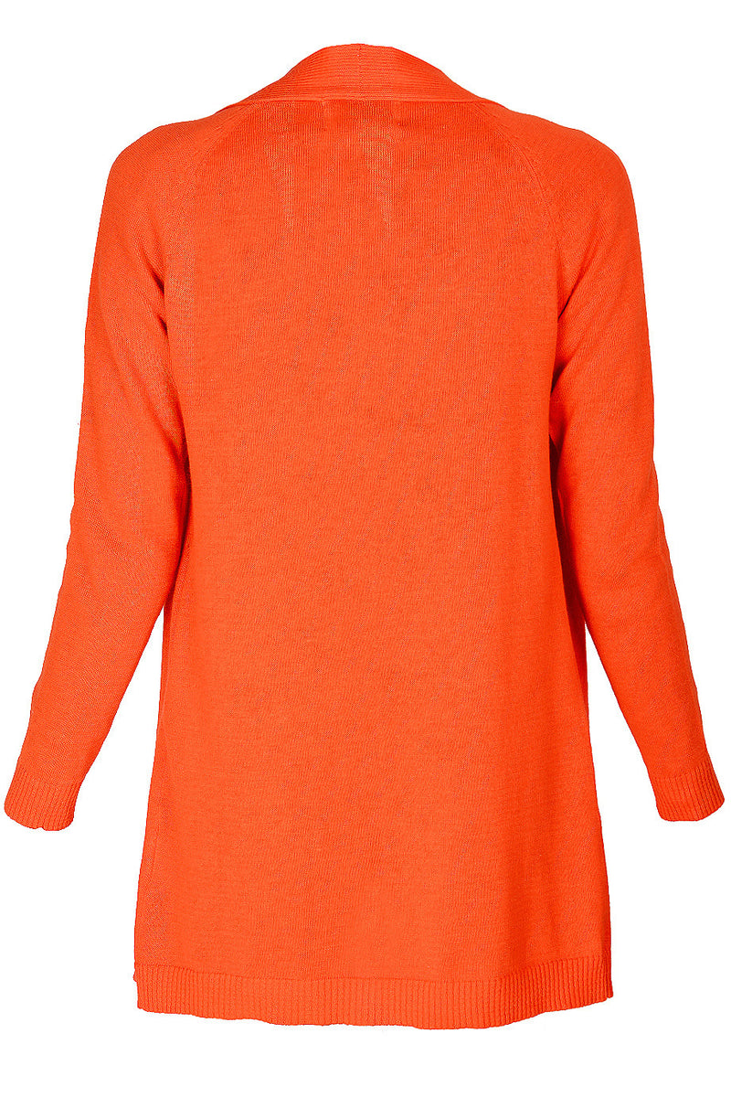 LONDON BOBBIE Orange Long Cardigan