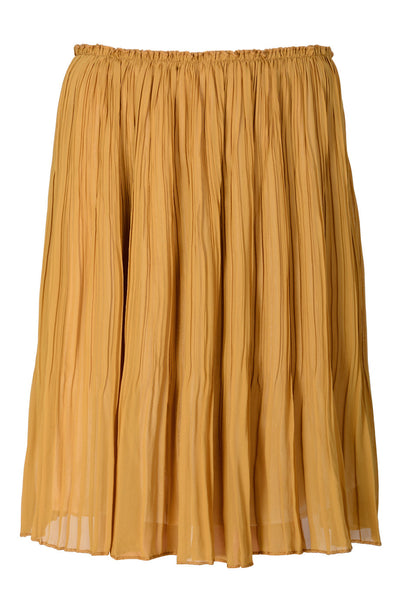 LONDON CIERRA Mustard Pleated Skirt