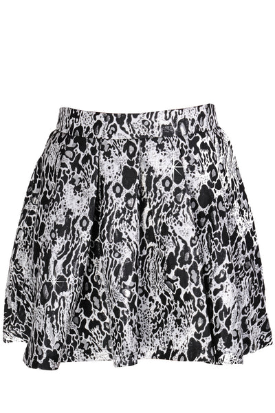 LONDON LENY Metallic Black White Full Skirt