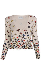 LONDON MARIPOSAS Beige Fitted Cardigan