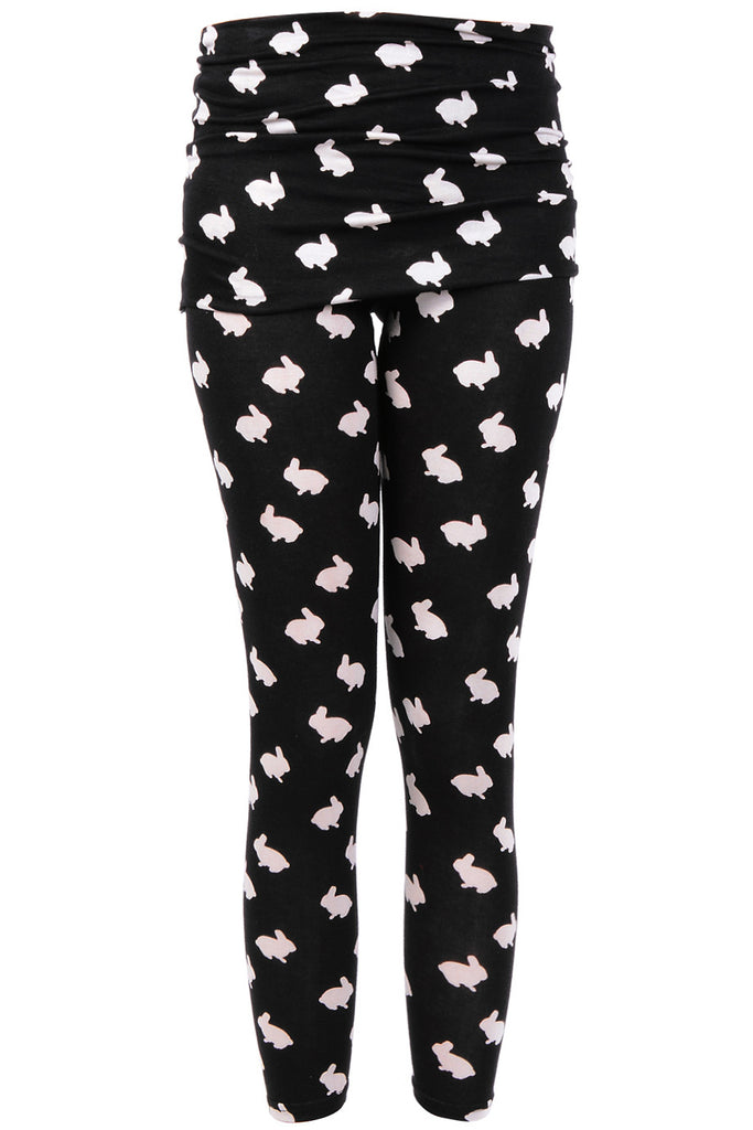 LONDON MINI RABBITS Black Leggings