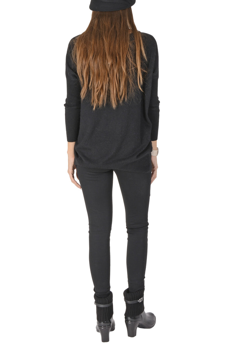 LONDON MISS PANDA Black Long Sweater