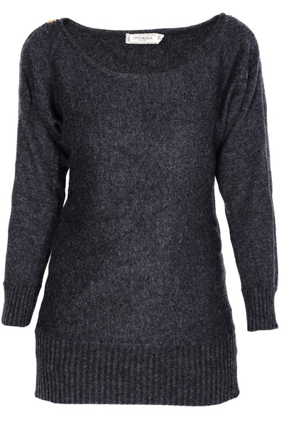 ALENE Charcoal Long Zipper Sweater