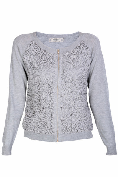 ARIADNA Grey Lace Cardigan