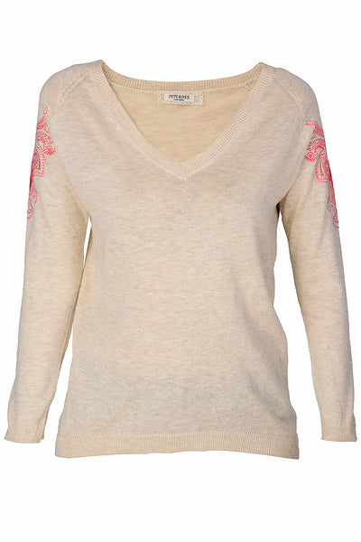 VALYA Beige Sweater