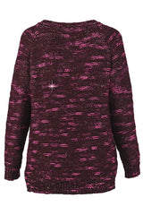 ZONIA Bordeaux Loose Knit Jumper