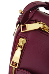 BUCKINGHAM Berry Bowling Leather Bag