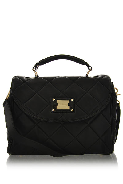 EIFFEL Black Leather Small Grab