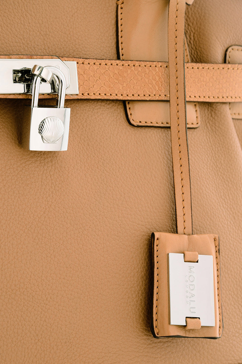 KRISTEN Brown Leather Tote