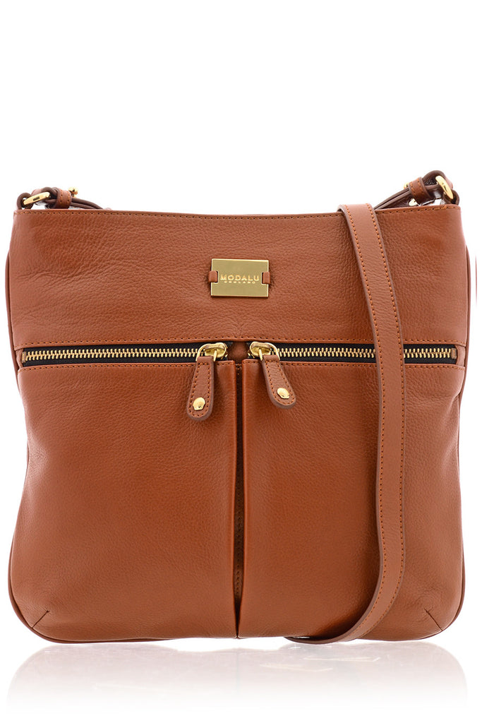 PIPPA Dark Tan Crossbody Bag