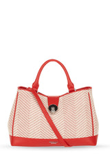 SOHO Red White Raffia Mix Grab