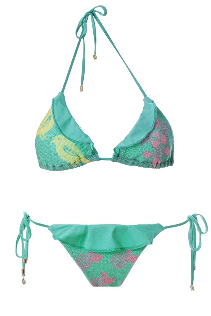 MITOS SWIMWEAR | BIRDS Green Embroidered Bikini Set