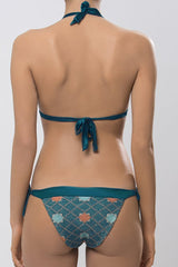 MITOS SWIMWEAR | STARLIGHT Petrol Embroidered Triangle Bikini Set