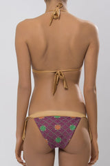 MITOS SWIMWEAR | STARLIGHT Purple Embroidered Triangle Bikini Set