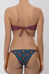 MITOS SWIMWEAR | TERRACOTA Petrol Embroidered Triangle Bikini Set