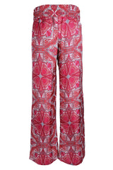 MANOLA Coral Print Silk Pants