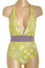 MY JEMMA OLIVIA Lemon Capri Print Swimsuit