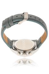 C3787 Grey Blue Leather Watch