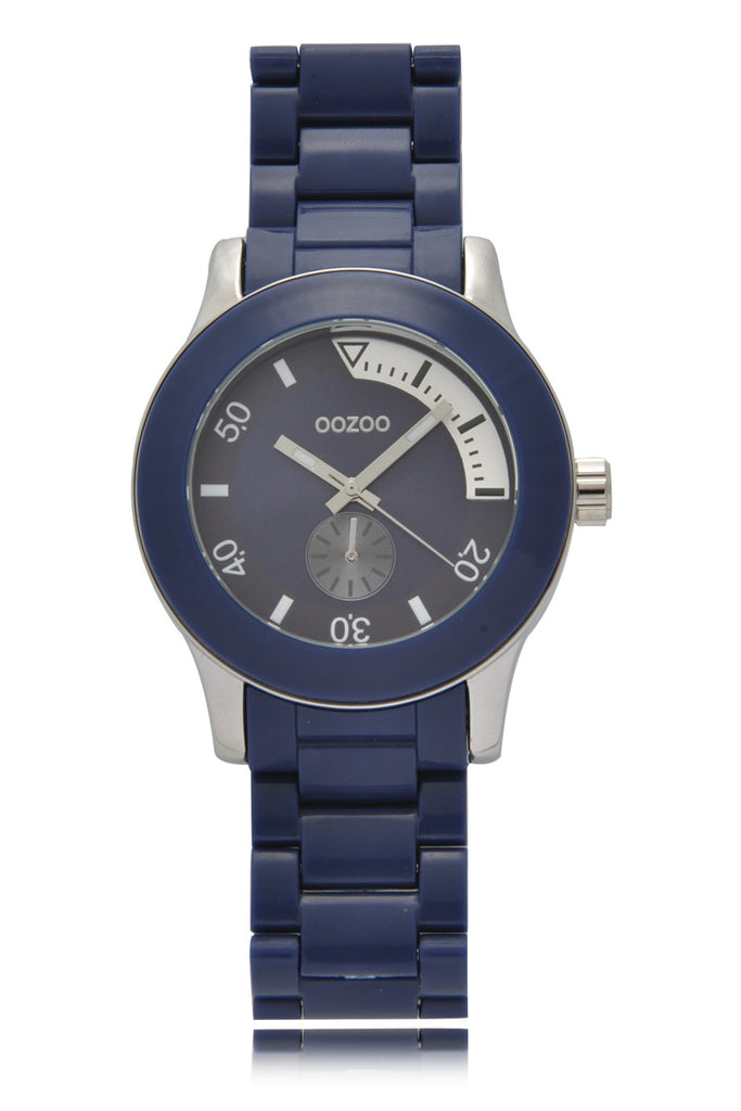 C4258 Dark Blue Plastic Watch