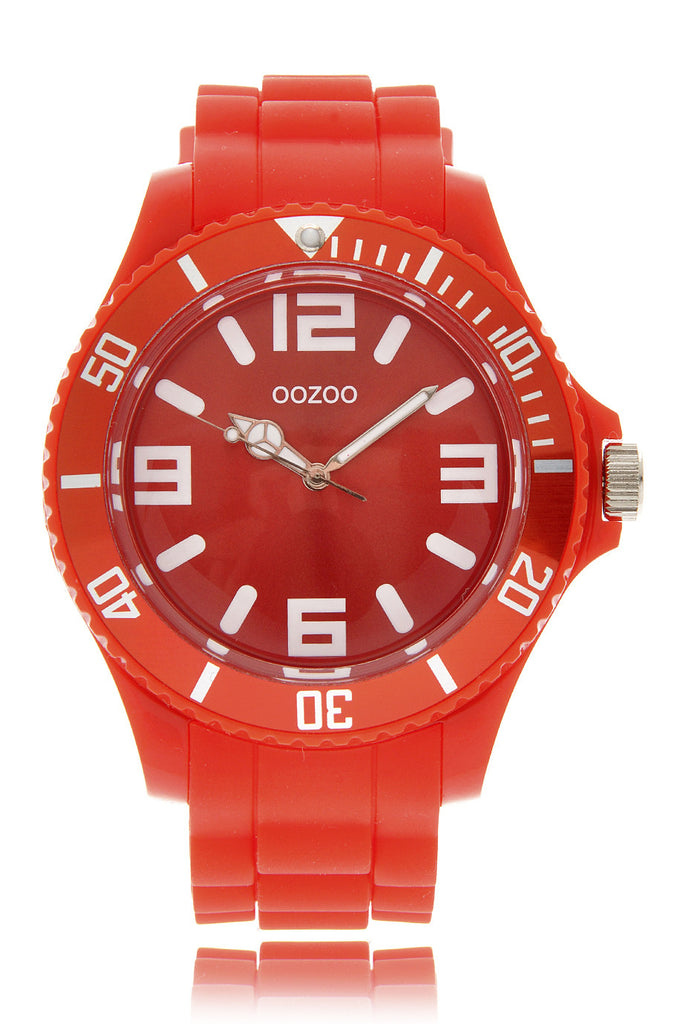 C4285 RED Fluo Silicone Watch