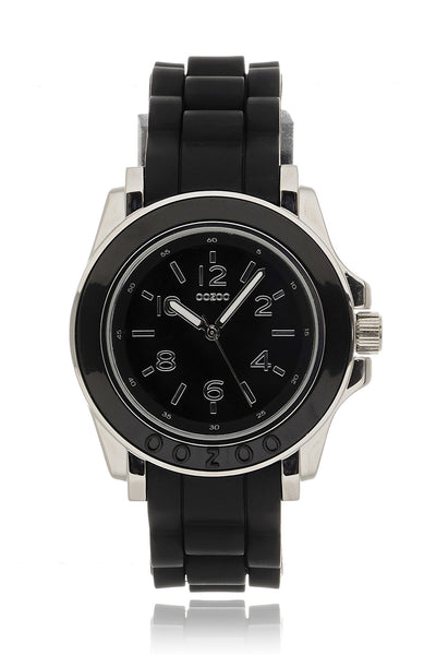 C4919 Black Silicone Watch