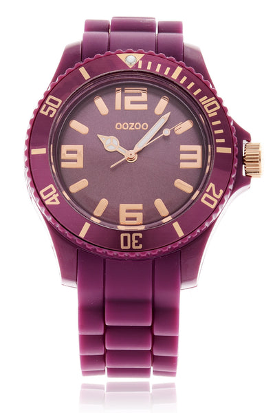 C5045 AUBERGINE Silicone Watch