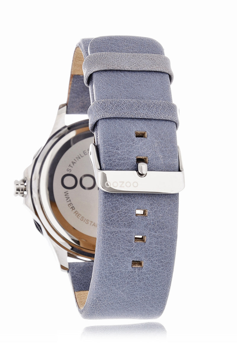 C5317 PETROL GREY Leather Watch