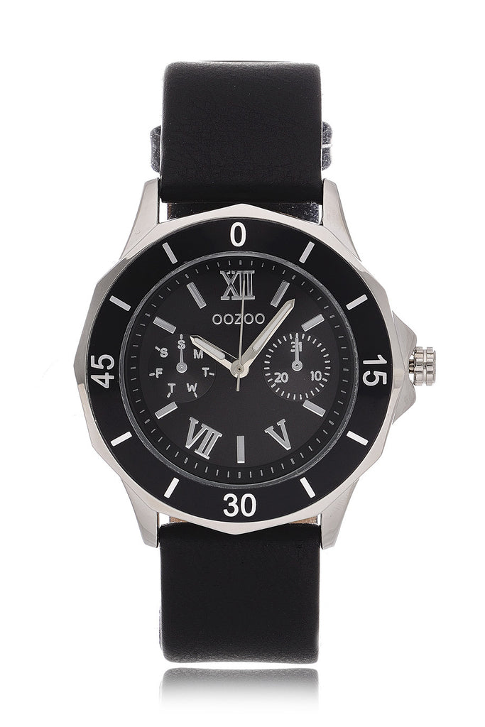C5319 Black Leather Watch