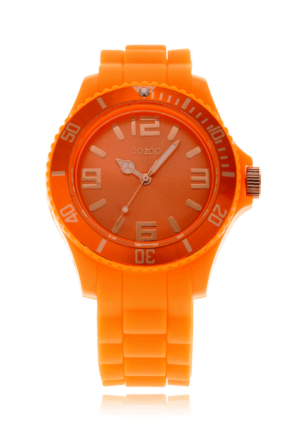 FLUO Orange Silicone Watch