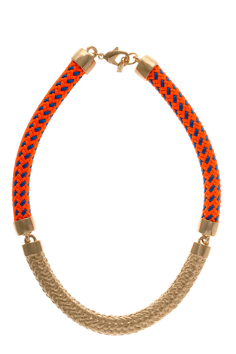 CONCORD Neon Orange Gold Necklace