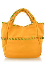ALSTON Yellow Leather Tote