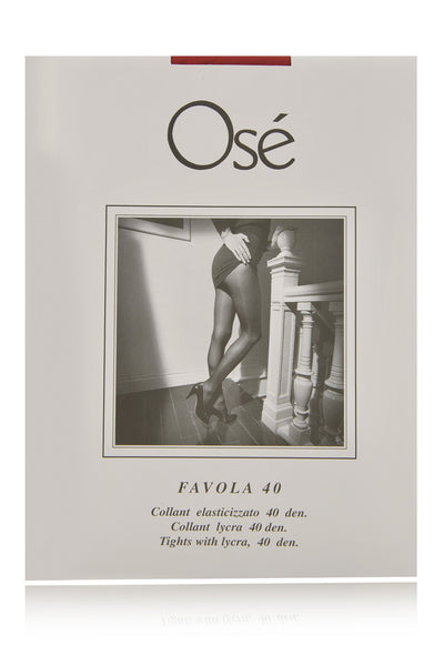 OSÉ FAVOLA 40 Opaque Red Tights (Rosso)
