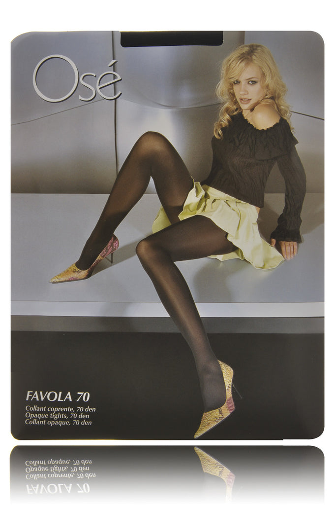 FAVOLA Black Opaque Tights