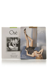 OSÉ RETINA Light Brown Fishnet Tights (Noisette)