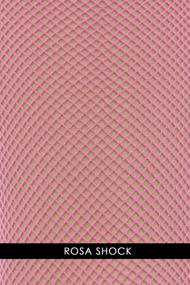 OSÉ RETINA Fishnet Tights Rosa Shock
