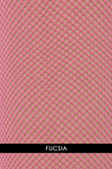 OSÉ RETINA Fuchsia Fishnet Tights (Fucsia)