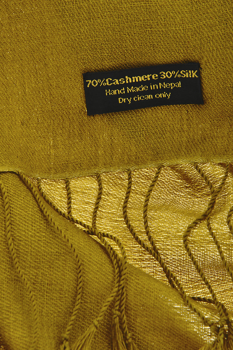 SHERPA Olive Green Cashmere Woman Scarf
