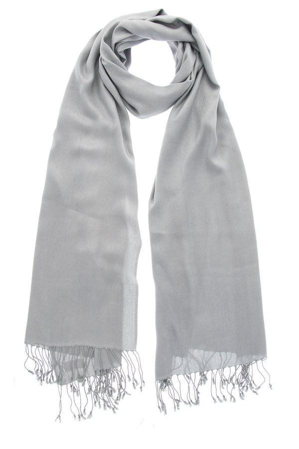 MAYA Silver Grey Viscose Woman Scarf