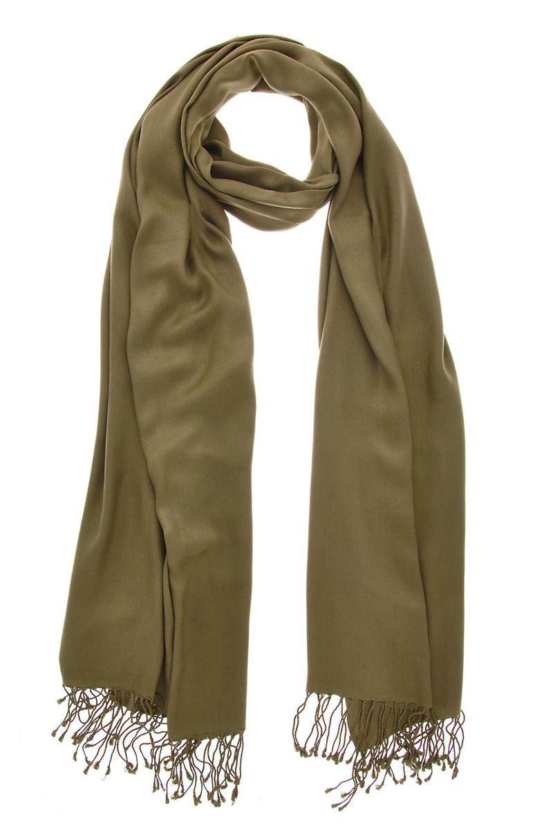 MAYA Viscose Dark Olive Woman Scarf