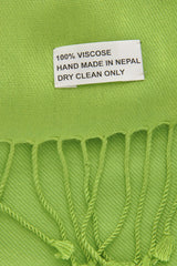 MAYA Viscose Grass Green Woman Scarf