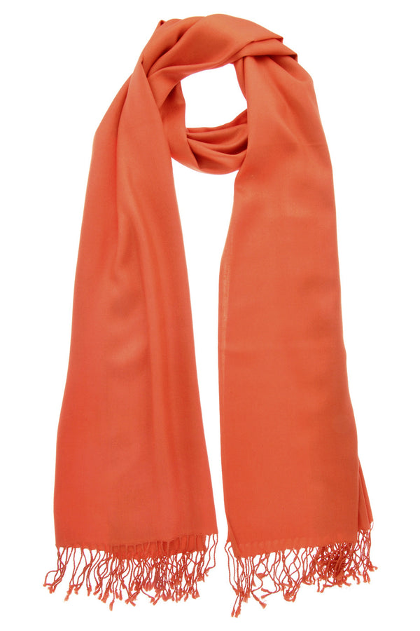 MAYA Viscose Orange Woman Scarf