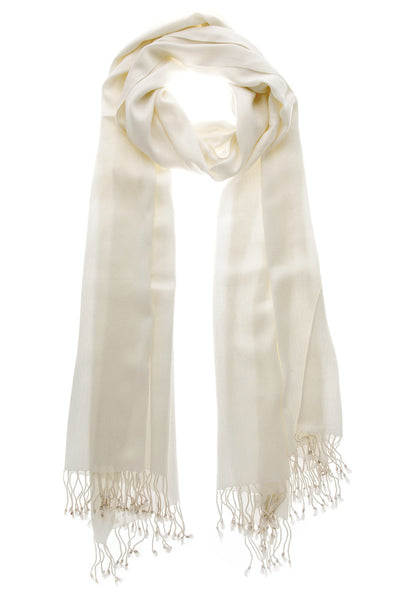 MAYA Viscose White Woman Scarf