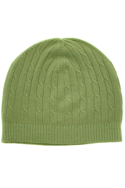 NEPAL Green Knit Cashmere Woman Beanie