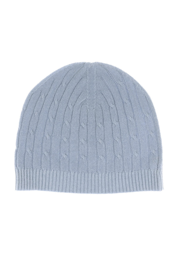 NEPAL Grey Blue Cashmere Woman Beanie